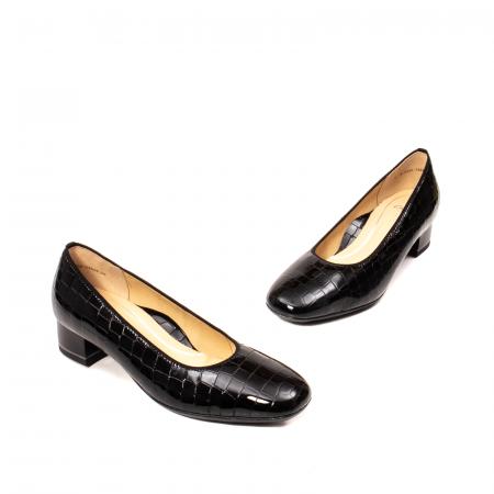 Pantofi eleganti dama, piele naturala lacuita croco, AR11838 26H1