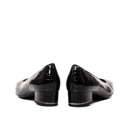 Pantofi eleganti dama, piele naturala lacuita croco, AR11838 26H6
