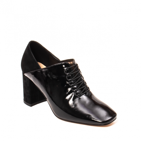 Pantofi eleganti dama, piele naturala lacuita, F82546A N0