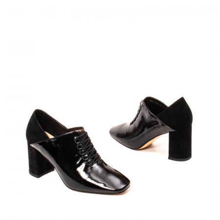 Pantofi eleganti dama, piele naturala lacuita, F82546A N2