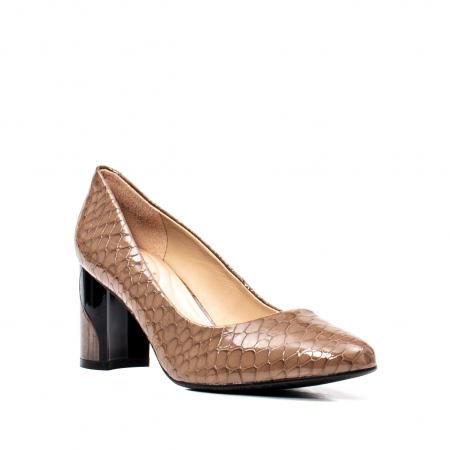 Pantofi eleganti dama, piele naturala lacuita, OE88260