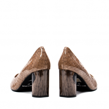 Pantofi eleganti dama, piele naturala lacuita, OE88266