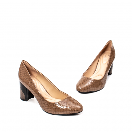 Pantofi eleganti dama, piele naturala lacuita, OE88261
