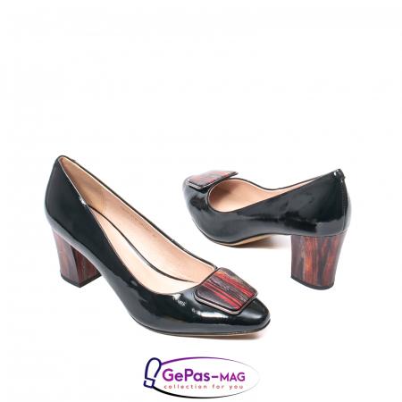 Pantofi eleganti dama, piele naturala lacuita, X1402