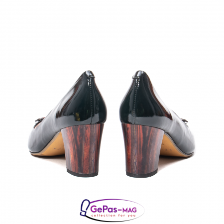 Pantofi eleganti dama, piele naturala lacuita, X1406