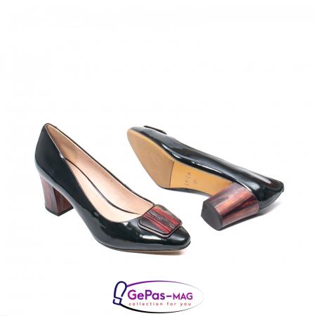 Pantofi eleganti dama, piele naturala lacuita, X1403