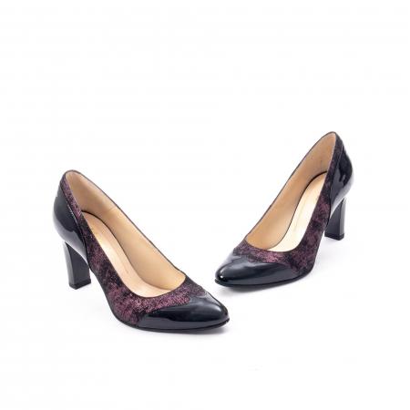 Pantofi eleganti dama, piele naturala, Nike Invest, 265 NL, negru-grena1
