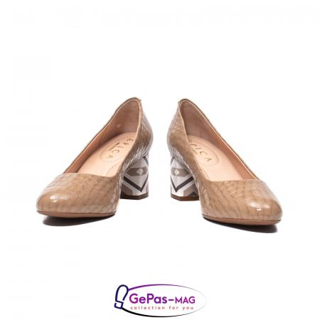 Pantofi eleganti dama, piele naturala, OE5354