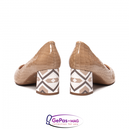 Pantofi eleganti dama, piele naturala, OE5356