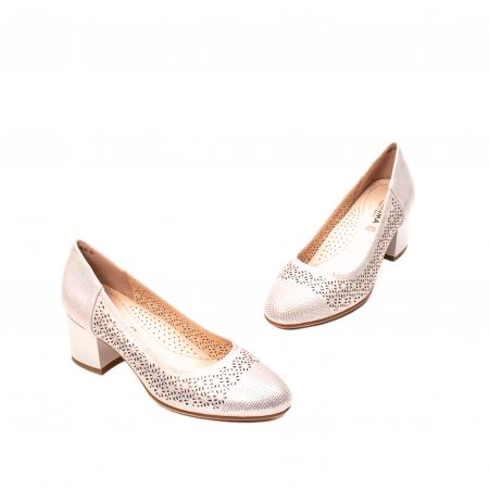 Pantofi dama eleganti, piele naturala peliculizata, K5201