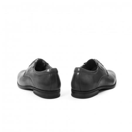 Pantofi eleganti de barbati piele naturala Leofex 522, negru4