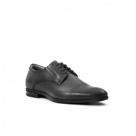 Pantofi eleganti de barbati piele naturala Leofex 522, negru0