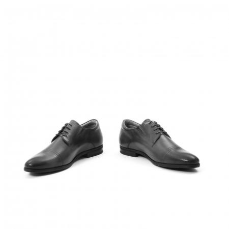 Pantofi eleganti de barbati piele naturala Leofex 522, negru5