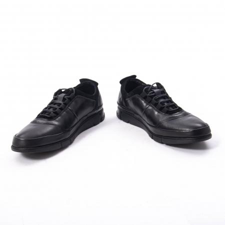 Pantofi casual  barbat din piele naturala, Catali 192552 negru4