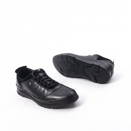 Pantofi casual  barbat din piele naturala, Catali 192552 negru3
