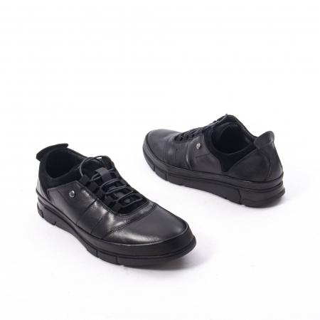 Pantofi casual  barbat din piele naturala, Catali 192552 negru2