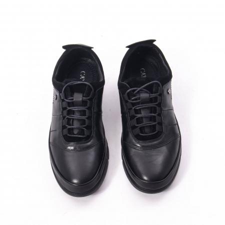Pantofi casual  barbat din piele naturala, Catali 192552 negru5