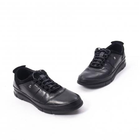 Pantofi casual  barbat din piele naturala, Catali 192552 negru1
