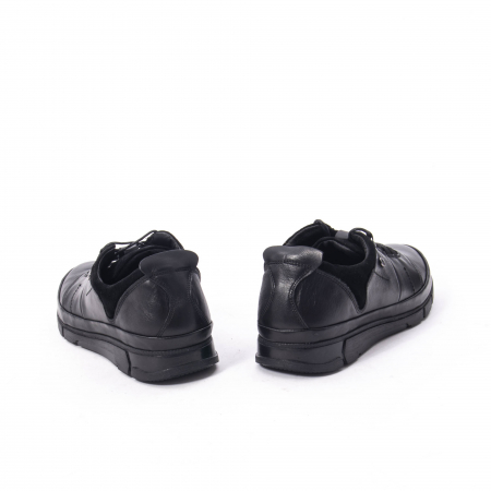 Pantofi casual  barbat din piele naturala, Catali 192552 negru6