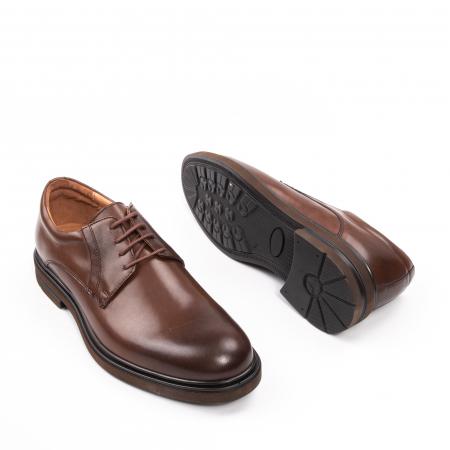 Pantofi eleganti de barbat din piele naturala, Leofex 998 maro3