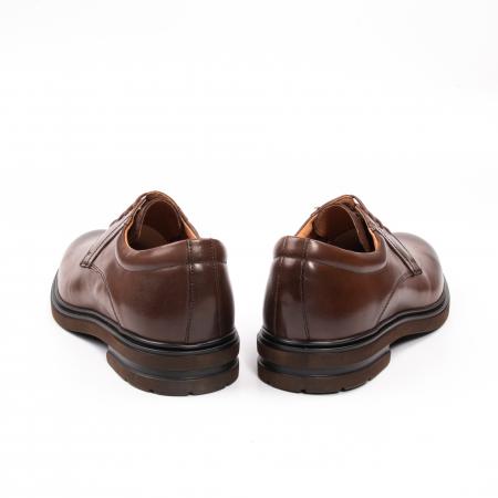 Pantofi eleganti de barbat din piele naturala, Leofex 998 maro6