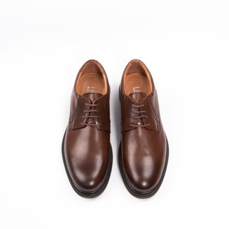 Pantofi eleganti de barbat din piele naturala, Leofex 998 maro5