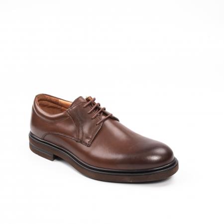 Pantofi eleganti de barbat din piele naturala, Leofex 998 maro0