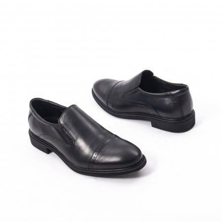 Pantofi eleganti barbati piele naturala Catali 172559, negru2