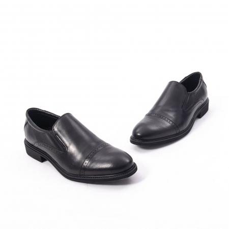 Pantofi eleganti barbati piele naturala Catali 172559, negru1