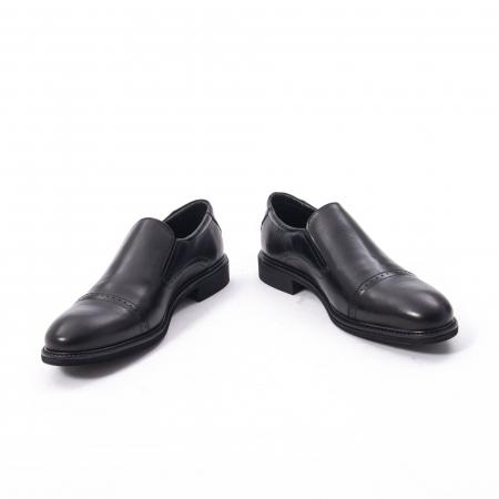 Pantofi eleganti barbati piele naturala Catali 172559, negru4
