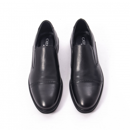 Pantofi eleganti barbati piele naturala Catali 172559, negru5