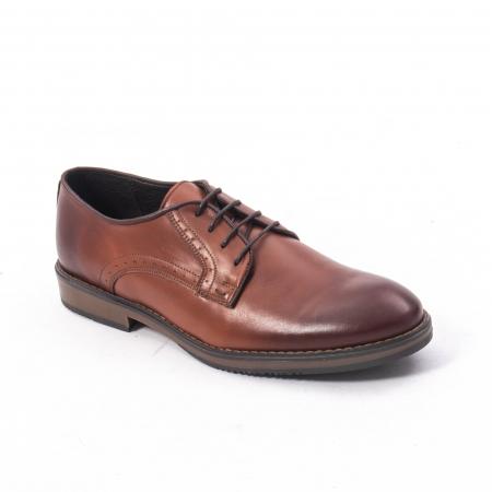 Pantofi eleganti barbat piele naturala Catali 182511, coniac0