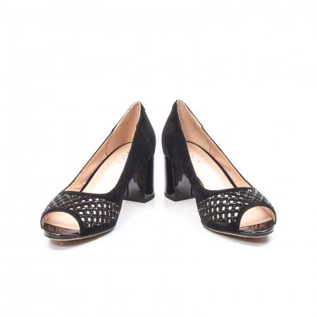 Pantofi eleganti de vara, piele naturala nubuc jixy553, negru4