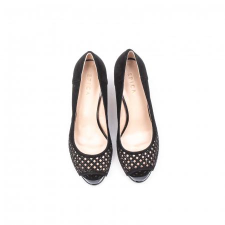 Pantofi eleganti de vara, piele naturala nubuc jixy553, negru5