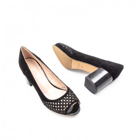 Pantofi eleganti de vara, piele naturala nubuc jixy553, negru3