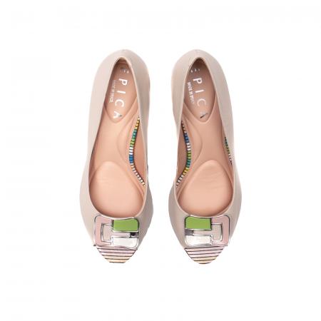 Pantofi eleganti decupati, piele naturala, OE10137 [5]