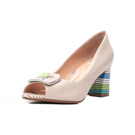 Pantofi eleganti decupati, piele naturala, OE10137 [0]