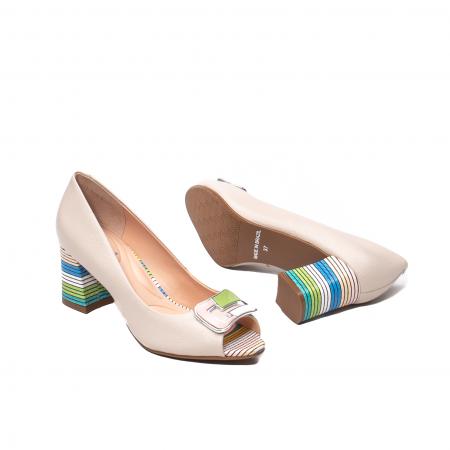 Pantofi eleganti decupati, piele naturala, OE10137 [3]