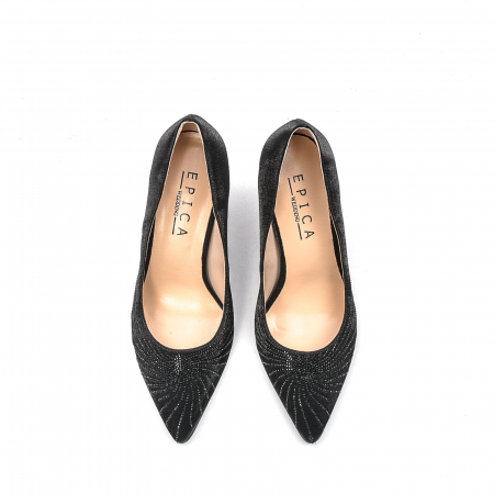 Pantofi dama eleganti Wedding din piele naturala, Ep B01568-3603D-A827, negru5
