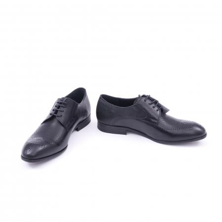 Pantofi barbati eleganti piele naturala Nevalis 116, negru4