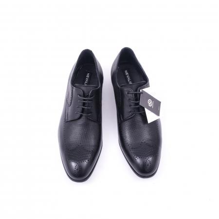 Pantofi barbati eleganti piele naturala Nevalis 116, negru5