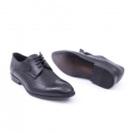 Pantofi barbati eleganti piele naturala Nevalis 116, negru3