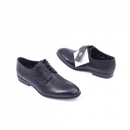 Pantofi barbati eleganti piele naturala Nevalis 116, negru2
