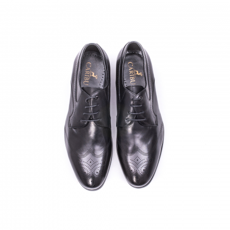 Pantofi eleganti barbati din piele naturala QRF 335621, negru4