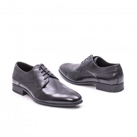 Pantofi eleganti barbati din piele naturala QRF 335621, negru1