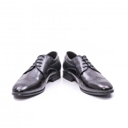 Pantofi eleganti barbati din piele naturala QRF 335621, negru3