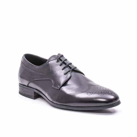 Pantofi eleganti barbati din piele naturala QRF 335621, negru0