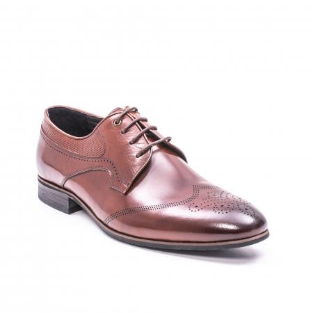 Pantofi eleganti piele naturala  QRF 335655-1 maro0