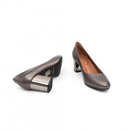 Pantofi EPICA gri, OE7122-337-455, din piele naturala5