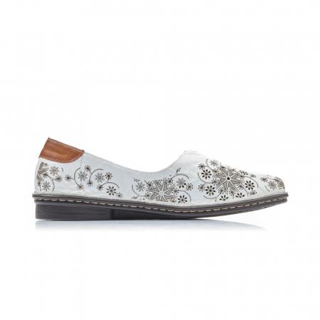 Pantofi dama vara, piele naturala, cod 48456-802